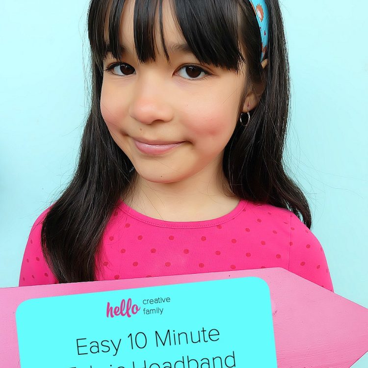Easy 10 Minute Fabric Headband Sewing Tutorial + Why You Need A Cricut If You Are In A Craft Slump