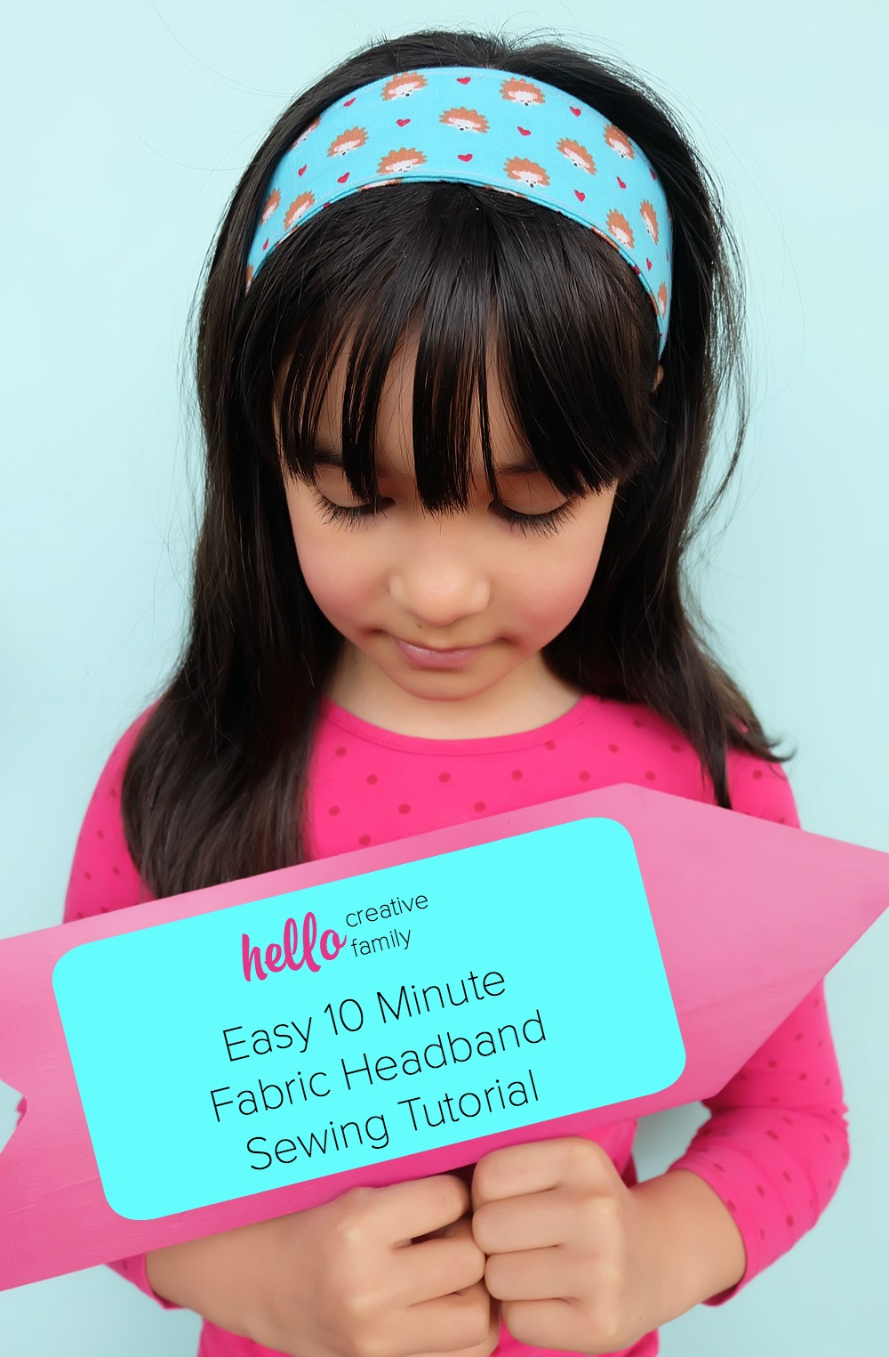 Bust out those fabric scraps and whip up this quick and easy sewing project! This 10 Minute Fabric Headband Sewing Tutorial will have you making a super cute hair accessory in minutes! Create this sewing project using the Cricut Maker. Also learn why a Cricut is the perfect tool if you are in a craft slump or want to learn to craft! #Cricut #sewing #hairaccessories #diy