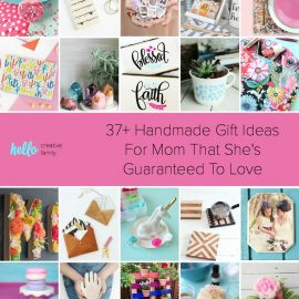 "Whether you're looking handmade gift ideas for mom for Mother's Day, birthdays, Christmas or a ""just because"" gift, we've got you covered with over 37 handmade gift ideas women are sure to love! So pull out those DIY supplies, head into your craft room and get creating! You're mama will thank you! Includes easy ideas for beginner crafters and sewers too! #HandmadeGift #crafts #diy #giftideas #mothersday"