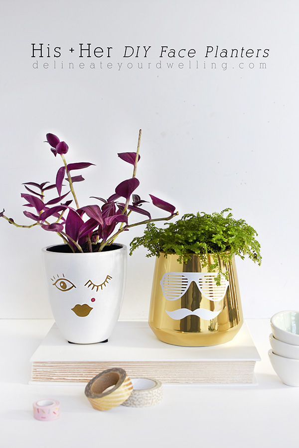 37+ Handmade Gift Ideas For Mom That She's Guaranteed To Love: DIY Face Planters from Delineate Your Dwellings