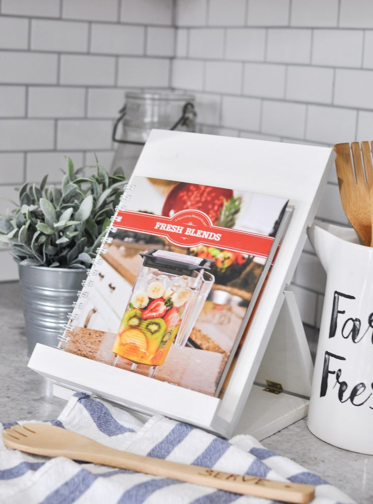 37+ Handmade Gift Ideas For Mom That She's Guaranteed To Love: DIY Foldable Cookbook or iPad Stand from Cherished Bliss