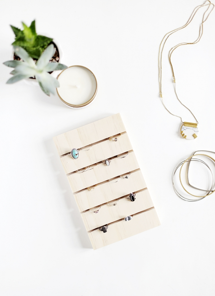 37+ Handmade Gift Ideas For Mom That She's Guaranteed To Love: DIY Ring Display from The Merry Thought