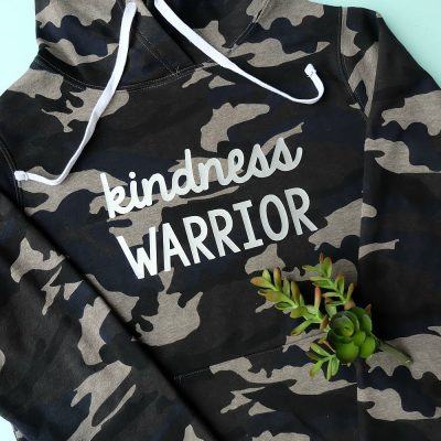 DIY Kindness Warrior Shirt With Free SVG File