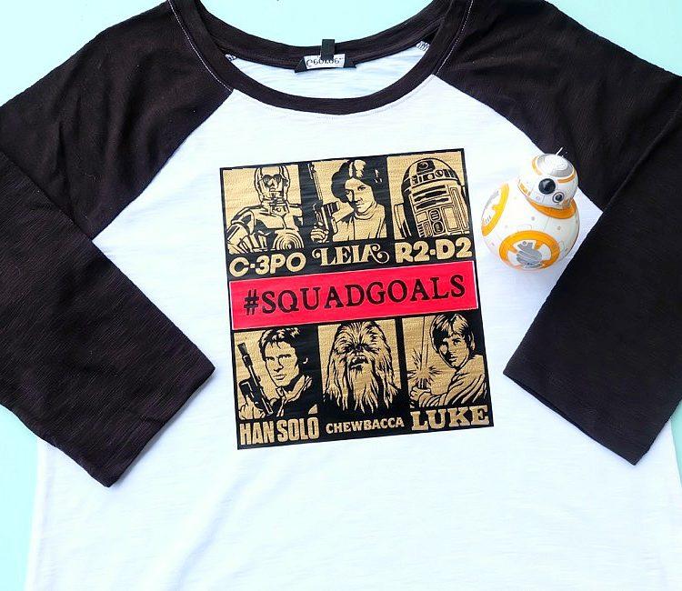 DIY Star Wars Squad Goals Shirt Design