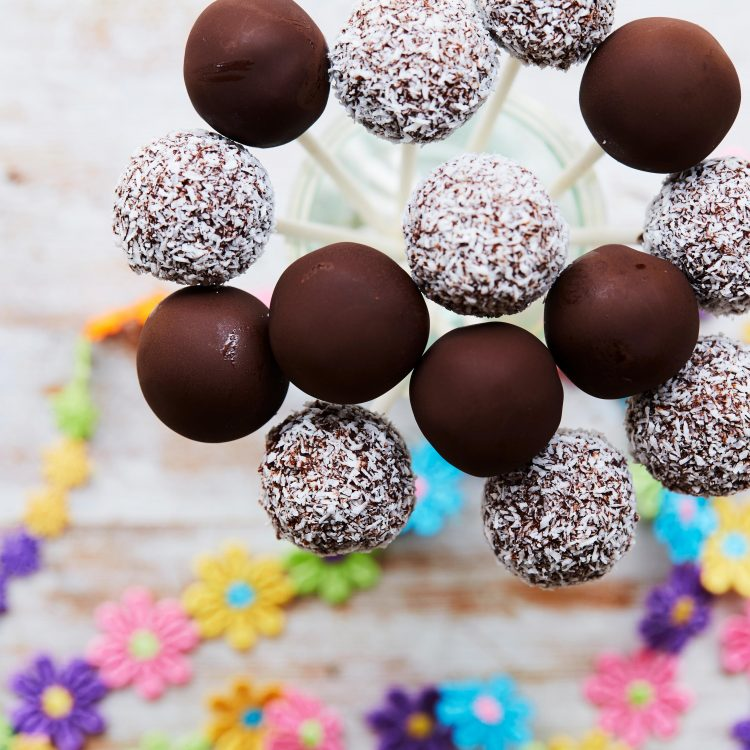 Chocolate Chia Bliss Ball Pops Recipe + Cookbook Giveaway