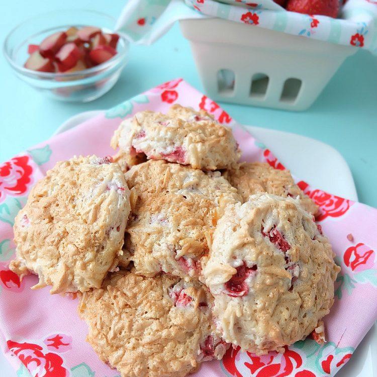 Strawberry Rhubarb Coconut Meringue Cookies Recipe