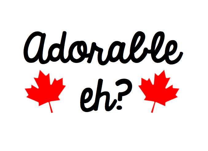 Adorable Eh Free Canada Day SVG file for Cricut or Silhouette