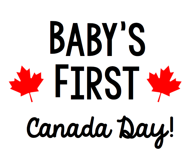 Baby's First Canada Day Free Canada Day SVG file for Cricut or Silhouette