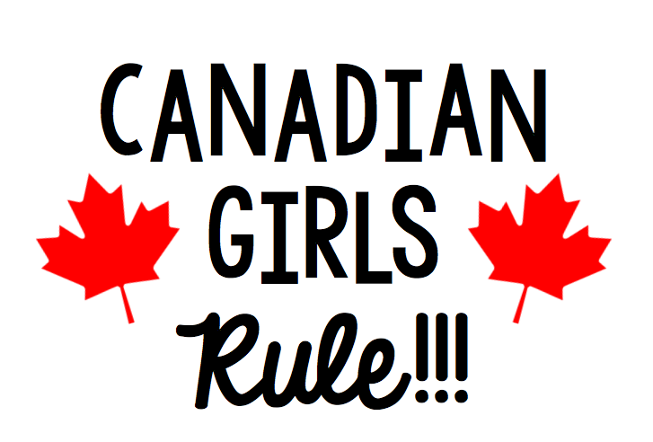 Canadian Girls Rule Free Canada Day SVG file for Cricut or Silhouette