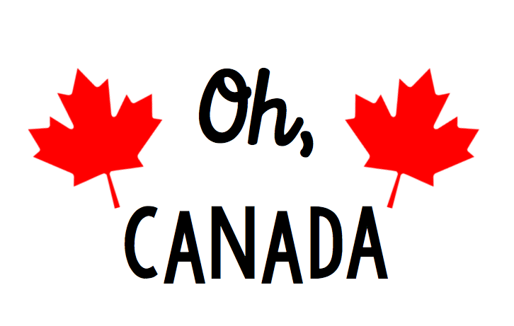 Oh Canada Free Canada Day SVG file for Cricut or Silhouette