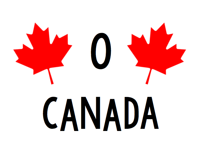 O Canada Free Canada Day SVG file for Cricut or Silhouette