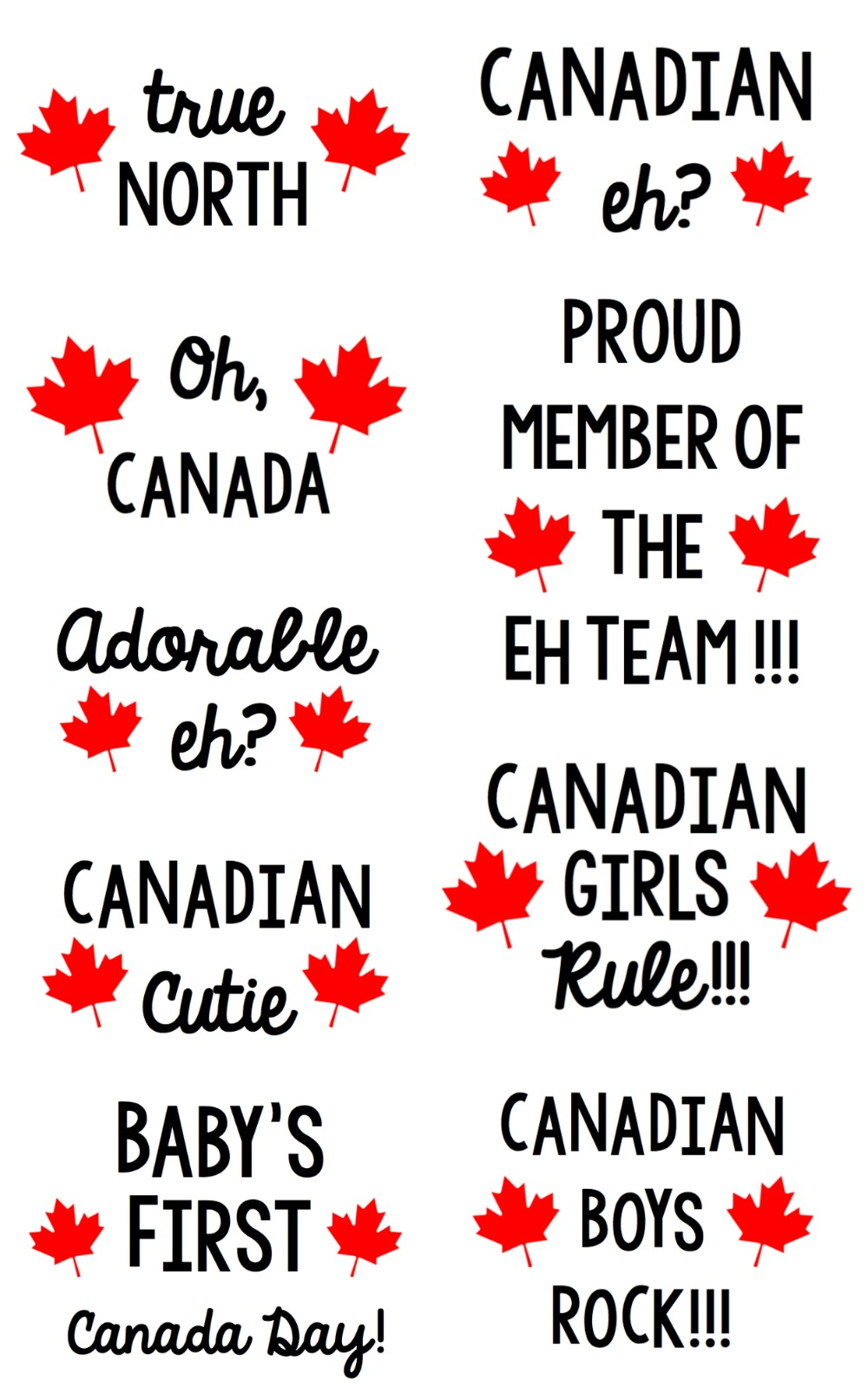 Get ready for Canada Day by making DIY custom shirts for your family and friends! We're sharing 13 Free Canada Day SVG Files that are perfect for making shirts with your Cricut or Silhouette! Get crafting! #CanadaDay #canada #cricut #silhouette