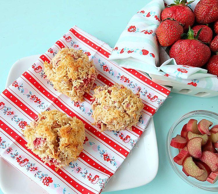 Strawberry Rhubarb Coconut Macaroon Recipe