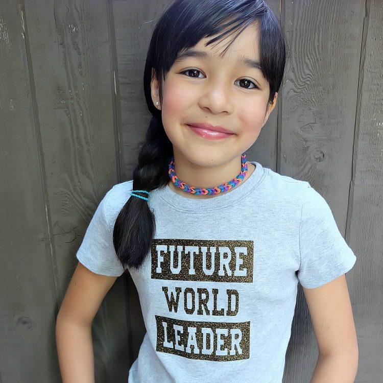 DIY Future World Leader Shirt Cricut Cut File and Instructions