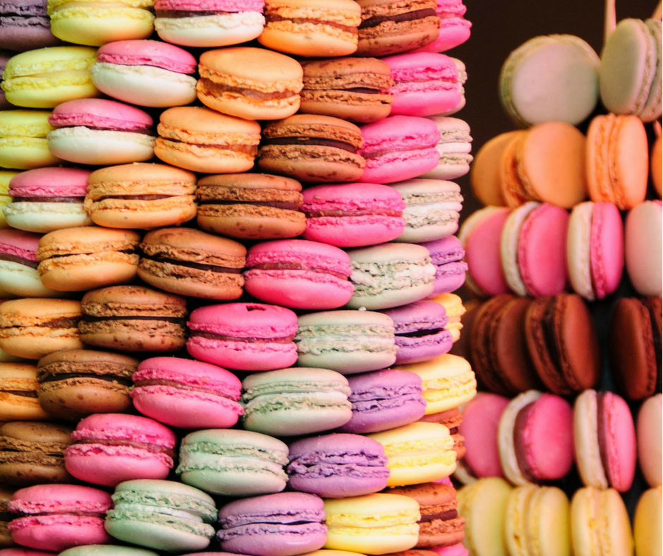 The difference between macaroons and macarons is explained.