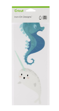 Narwhal and Seahorse Cricut Iron On Designs