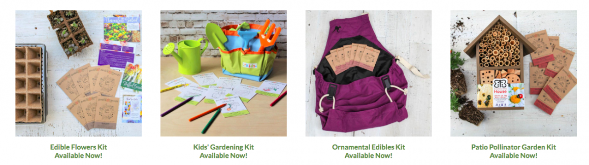 Gardening kits from Garden Therapy and Garden Trends