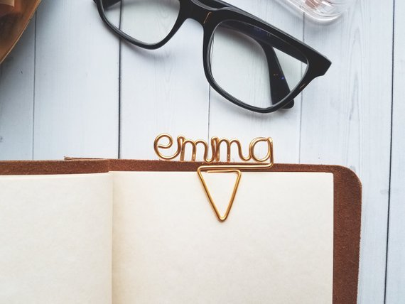 School Accessories You'll Love: Custom Name Paper Clip from Le Rustic Chic