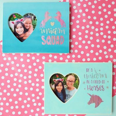 DIY Unicorn Picture Frame- Perfect For Unicorn Birthday Crafts and Party Favors