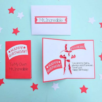 DIY Superhero Birthday Card and Envelope Set