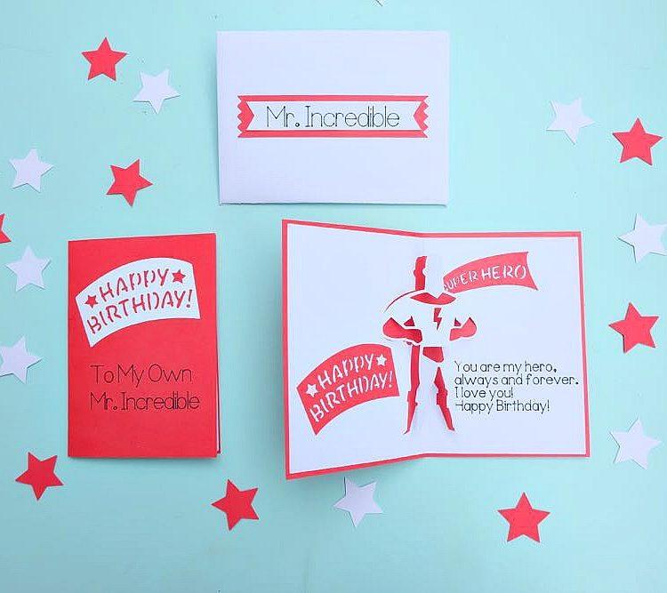 DIY Superhero Birthday Card and Envelope Set