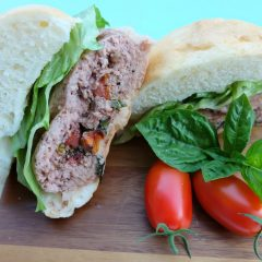 Caprese Stuffed Turkey Burger Recipe