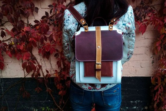School Accessories You'll Love: Leather Backpack from MiroS