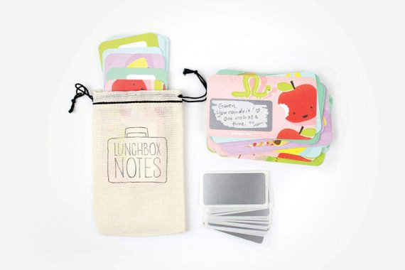 Handmade School Supplies & Accessories You'll Love: Foodie Scratch Off Lunch Box Notes from Inklings Paperie