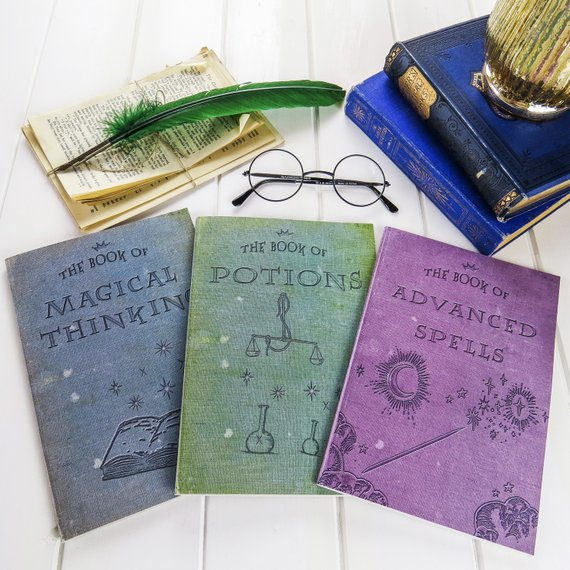 Handmade School Supplies & Accessories You'll Love: Harry Potter Magic Notebooks from Literary Emporium