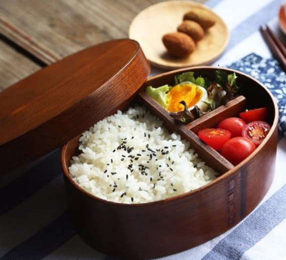 Handmade School Supplies & Accessories You'll Love: JuJube Wood Bento Box from Handmade Wood Craft Art