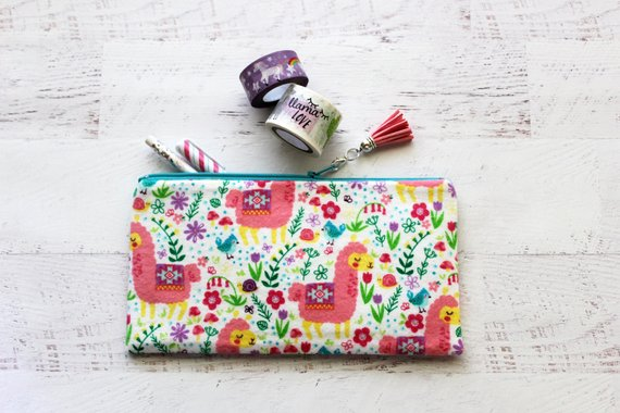 School Accessories You'll Love: Llama Pencil Pouch from Simbiosis By Julia