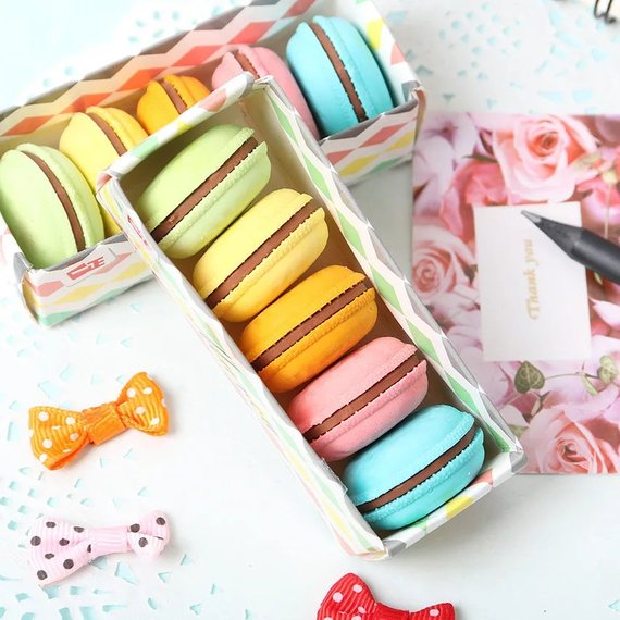 School Accessories You'll Love: Macaron Erasers from Cute Loot Stationery