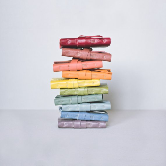 Handmade School Supplies & Accessories You'll Love: Mini Rainbow Journals from Jackdaw Bindery
