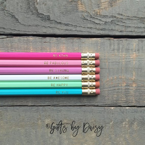 School Accessories You'll Love: Motivational Pencil Set from Gifts By Daisy