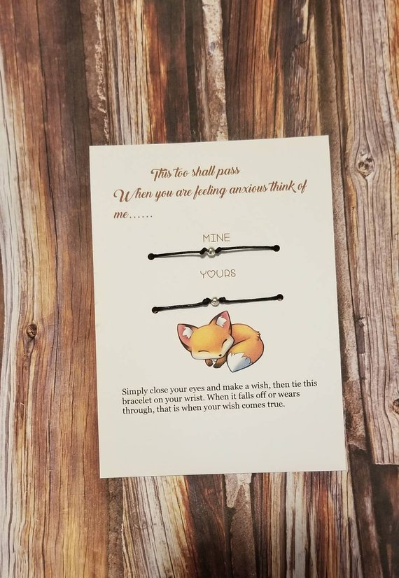Handmade School Supplies & Accessories You'll Love: Parent and Child Anxiety Bracelet from Cupcake Cards and Co.