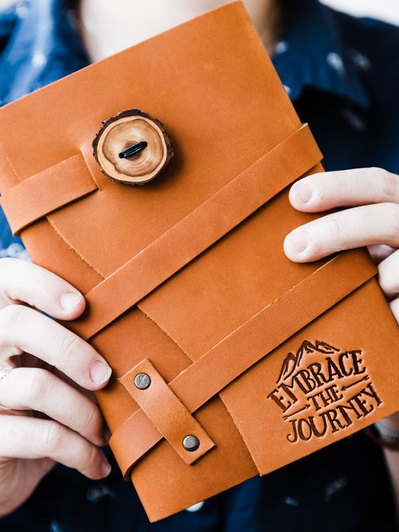 Handmade School Supplies & Accessories You'll Love: Personalized Leather Journal from Portland Leather