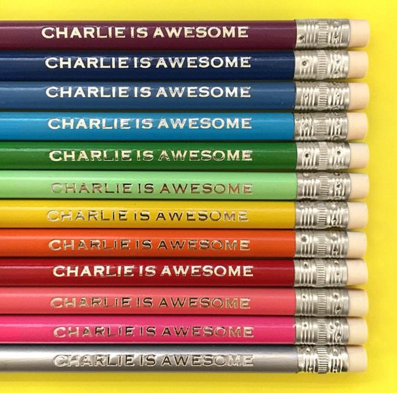 Handmade School Supplies & Accessories You'll Love: Personalized Pencils from Roost Paperie