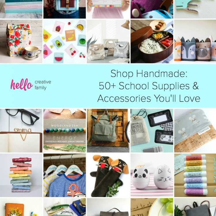 50+ Handmade School Supplies and Accessories You'll Love