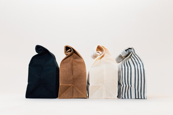 Handmade School Supplies & Accessories You'll Love: Waxed Canvas Lunch Bags from WAAM Industries