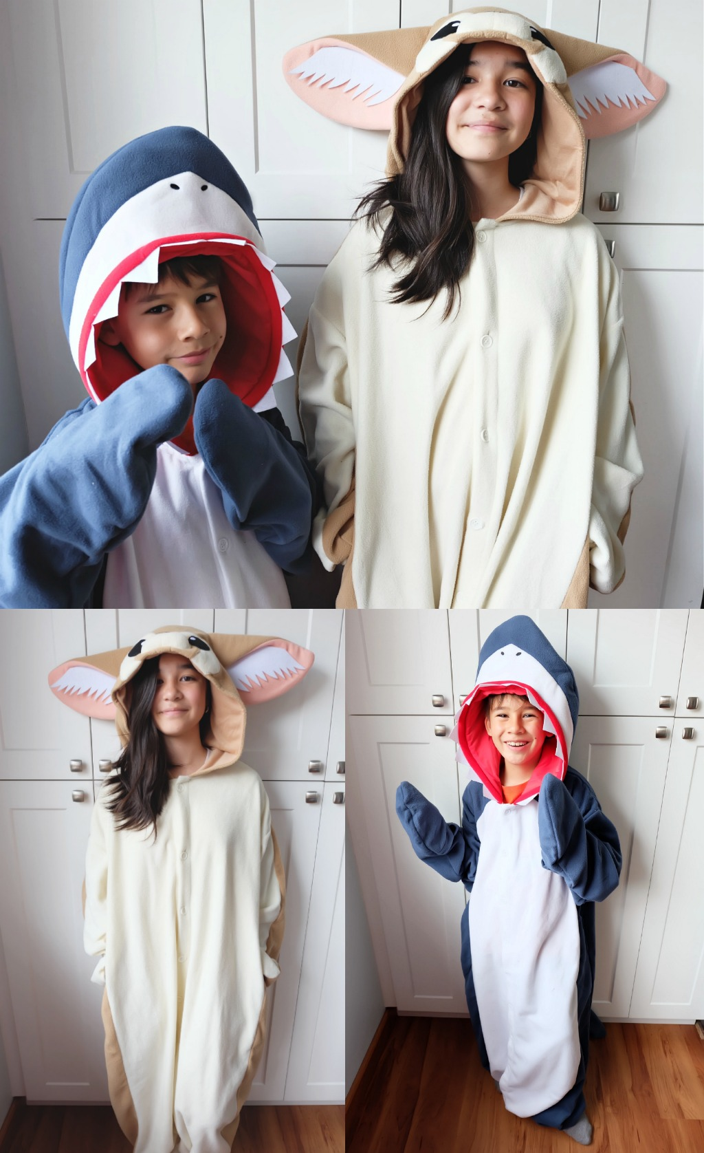 DIY not your thing? Kigurumi has adorable onesies in kid and adult sizes that come in all of your favorite animals and cartoon characters! I love them because like these animal hoodies, they can be worn not just on Halloween but all year long! My kids have the Shark Kigurumi and the Fennec Fox Kigurumi and they love them. I, myself adore this adorable Panda Kigurumi! I think it's probably the cutest panda onesie in the whole wide world! Do you agree?