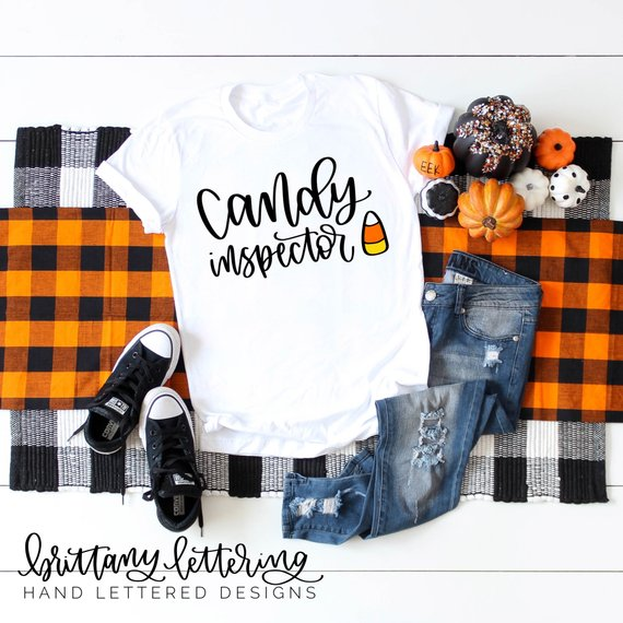 Awesome Halloween SVG Ideas: Candy Inspector Hand Lettered SVG from Brittany Lettering
