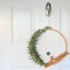 Simple DIY Rosemary Autumn Wreath- Made With The Cricut Maker + Free SVG File
