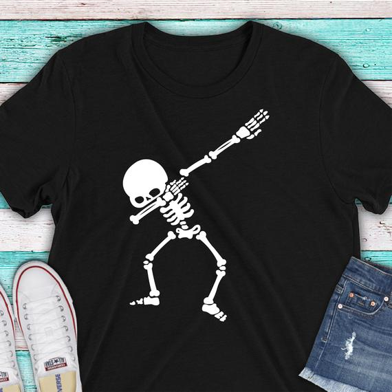 Awesome Halloween SVG Ideas: Dabbing Skeleton SVG File from Printiverse