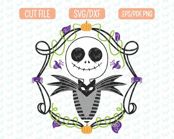 Awesome Halloween SVG File Ideas: Jack Skellington Nightmare Before Christmas SVG File from Fidgety Fox Designs
