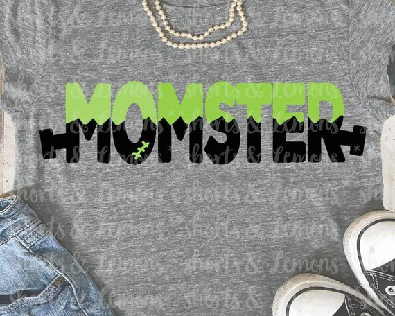 Awesome Halloween SVG File Ideas: Momster SVG File from Shorts and Lemons
