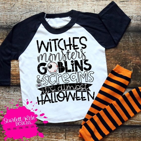 Awesome Halloween SVG File Ideas: Witches, Goblins, Monsters and Screams SVG File from Scarlett Rose Cuts