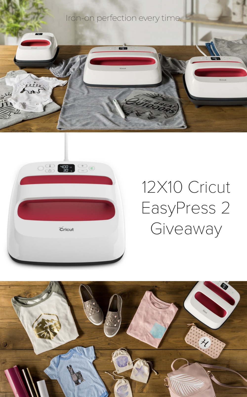 Win a 12X10 Cricut EasyPress 2 from Hello Creative Family. Must live in Canada or the US to enter. Contest closes November 20th, 2018. #Giveaway #Cricut #CricutMade #contest