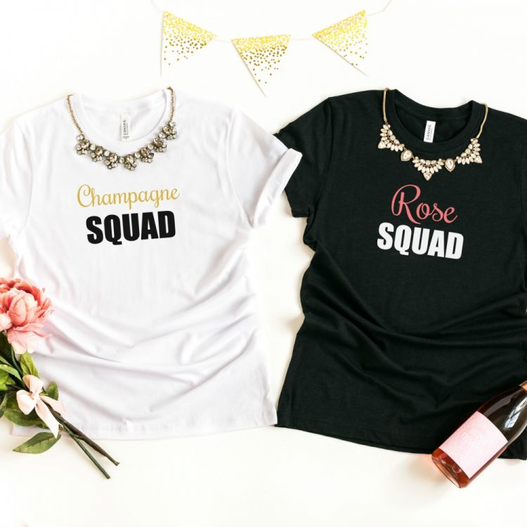 12 Free New Year's Eve SVG Files Including Rosé Squad and Champagne Squad