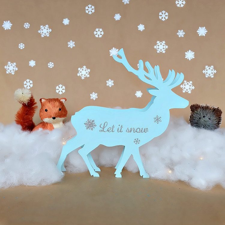 DIY Reindeer Christmas Decoration Made With the Cricut Maker