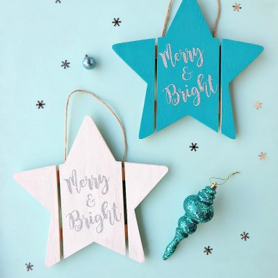 DIY Wood Christmas Sign + Free Merry and Bright SVG File